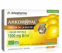 Arkoroyal Gelée Royale Bio 1500 Mg Solution Buvable 20 Ampoules/10ml à CAHORS